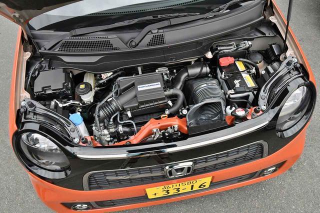画像: 64psと10.6kgmを発生する0.66Lの3気筒ターボエンジン。必要十分なパワーは備える。