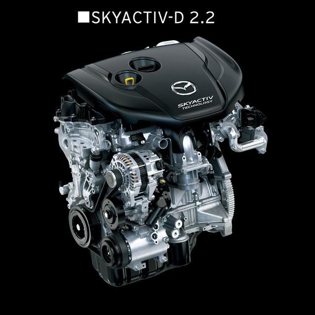 画像: 大きくパワーを増大させた2.2Lディーゼルエンジン。