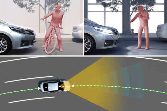 画像: 運転支援システムの進化は加速する。車両だけでなく、歩行者や自転車も検知して被害軽減を図るシステムがいくつも登場している。画像は、2018年から順次搭載されるというトヨタのToyota Safety Sense 第二世代での新機能の一部。自転車運転者検知(左)夜間歩行者検知(右)、レーンディパーチャーアラート(車線維持支援・下)