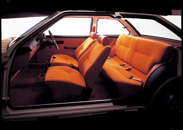 画像: ミラージュ3ドアハッチバックの内装。ピラーは細く、ガラス面積が広いため室内が明るい。