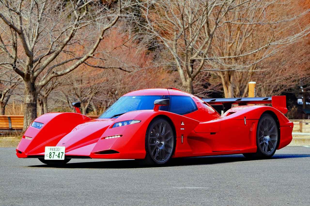 画像: どう見てもプロトタイプレーシングカーそのもののスタイルだが、保安基準などをクリアしてナンバーを取得した。