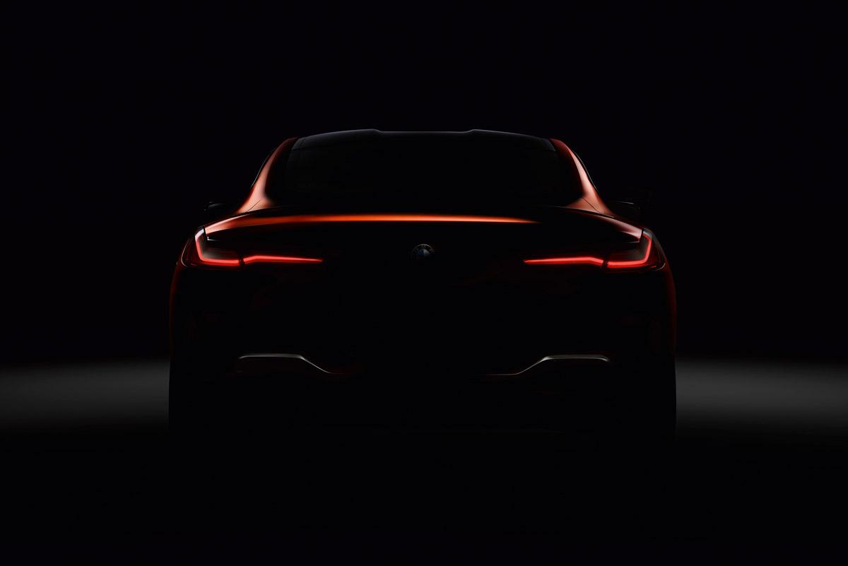 画像: BMWが公開している8シリーズのティザー画像。