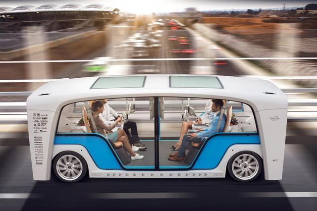 画像: 座席が向かい合っているように、走行は自動で行われるというコンセプトだ。1