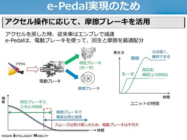 画像: e-ペダルは減速時に電動ブレーキで回生と摩擦を最適配分している。