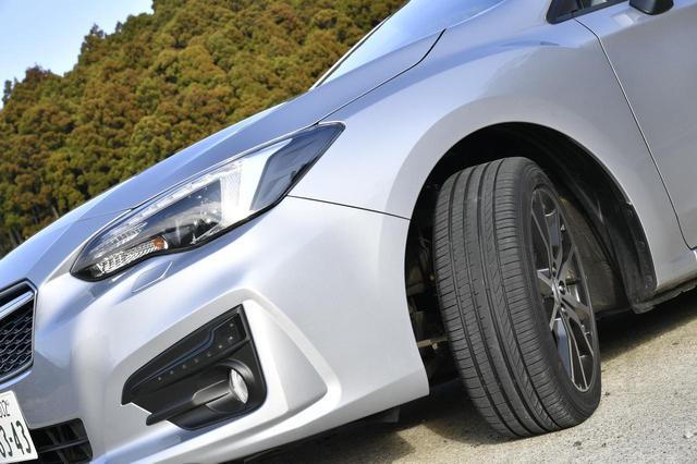画像: 今回はSUBARUインプレッサG4 AWDに装着。タイヤサイズは205/50R17 93V XLだ。