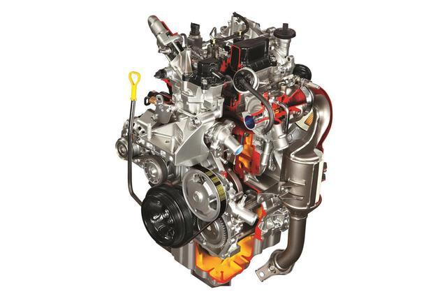 画像: セレリオディーゼルに搭載されていた2気筒 0.8Lディーゼルターボエンジン。