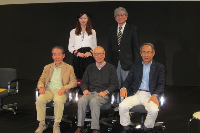 画像: 後列左から吉田由美さん、山口京一さん。 前列左から福田成徳さん、小早川隆治さん、貴島孝雄さん