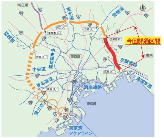 画像: 現在外環道は、東名〜大泉を掘削しているという。
