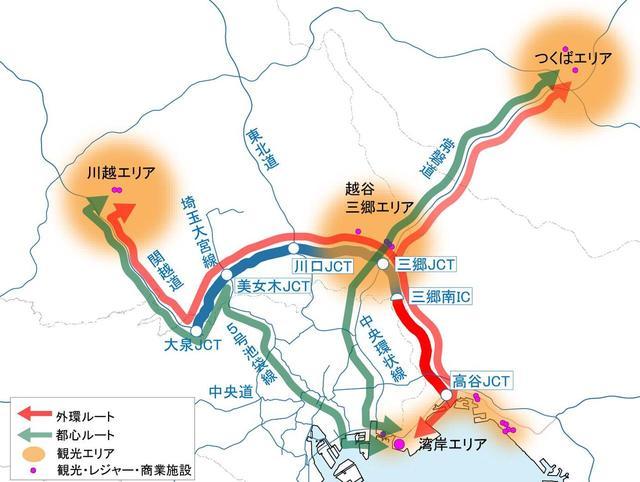 画像: 外環道の新規開通によって、千葉や埼玉の人気施設へのアクセスが楽になる。