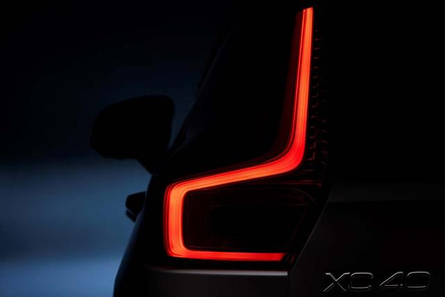 画像: XC40のテールライト。