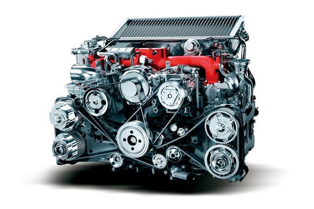 画像: WRX STIに搭載されているEJ20型・2L水平対向4気筒ターボエンジン。308ps・422Nmを発生する。