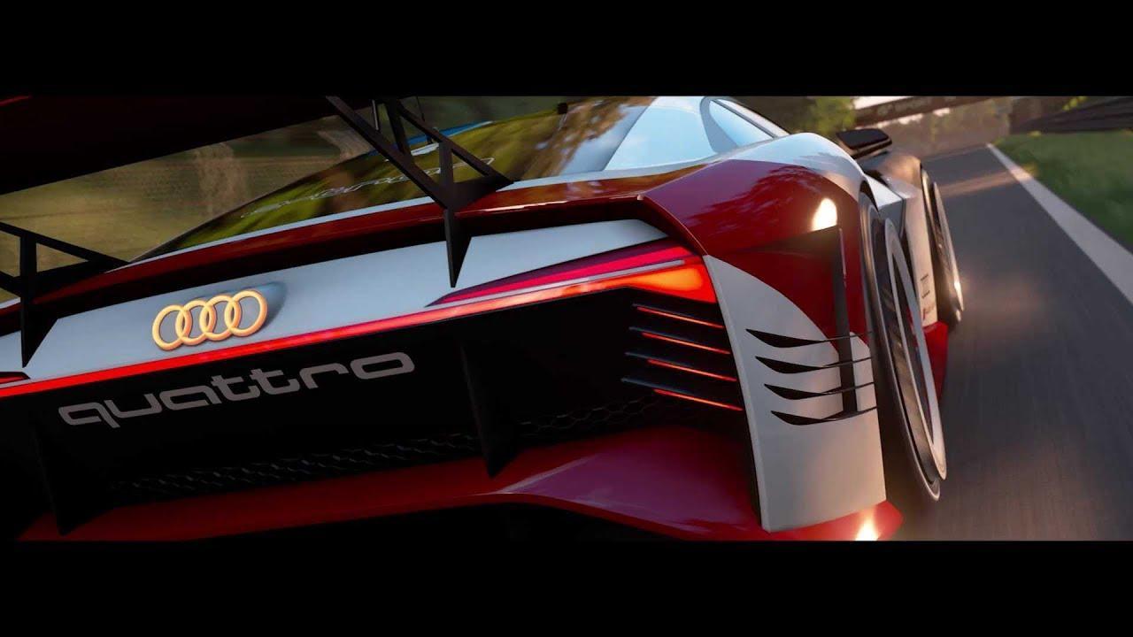 画像: The real deal: Audi e-tron Vision Gran Turismo youtu.be