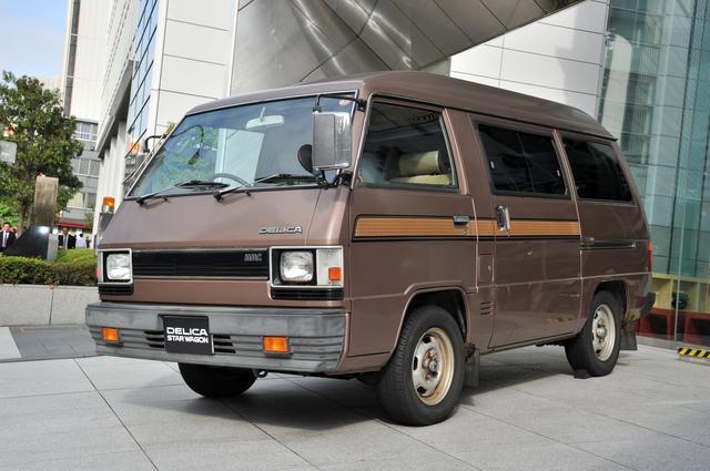 画像: 2代目のデリカスターワゴン(写真は1984年式)。小型キャブオーバー車として日本初の4WD車を追加し、順調に販売を伸ばした。