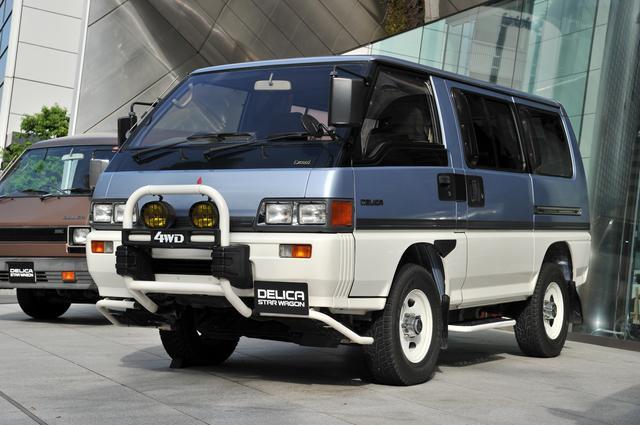 画像: 3代目のデリカスターワゴン(写真は1990年式)。モノコックボディが採用され、快適で便利なレジャー心を提供してきた。