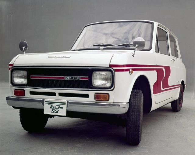 画像: フェローSS。ちなみにヘッドライトの「角目」は、1966年登場のフェローが日本車では初となる。