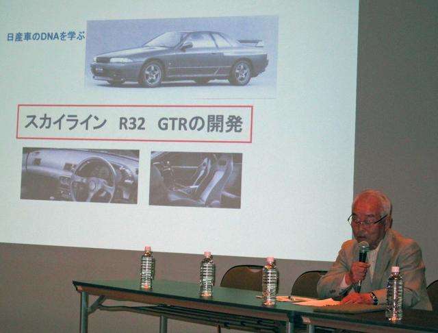 画像: R32開発者、伊藤修令氏。現在、岡谷市にある「プリンス&スカイライン・ミュウジアム」の名誉館長を務めている。