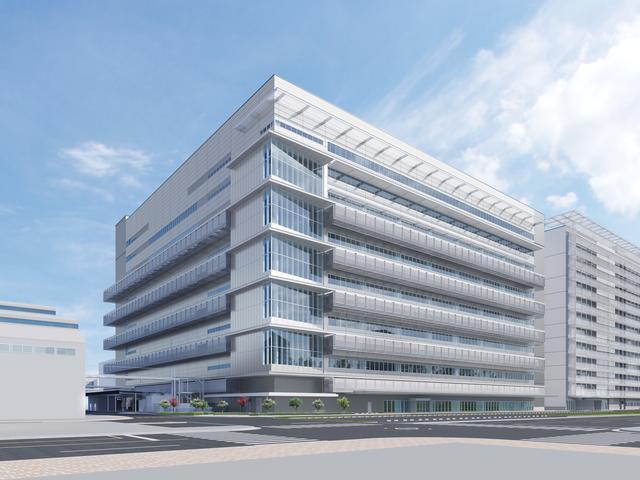 画像: 本社工場内に新設されるFCスタック生産用建屋、8階建てで延床面積は約7万㎡だ。