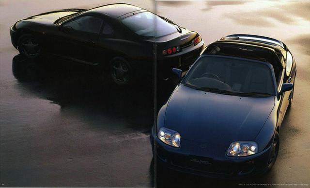 画像: 手前はエアロトップ車。現在、中古市場ではこの代のスープラは高騰している。
