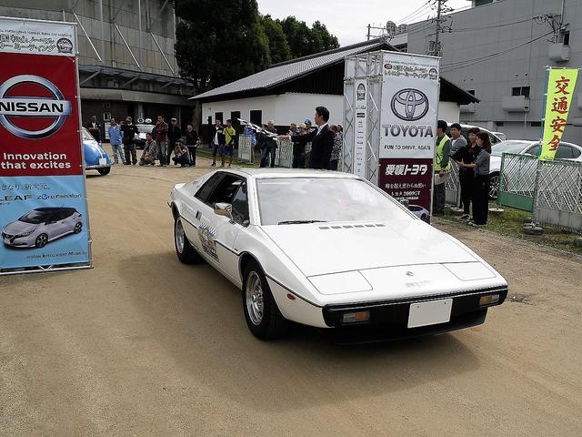 画像: 東京都から遠征してきた昭和53年式のロータスエスプリ。国産車でなくても参加OKだ。