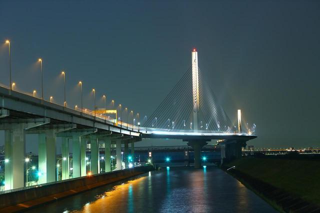 画像: かつしかハープ橋(中央環状線)