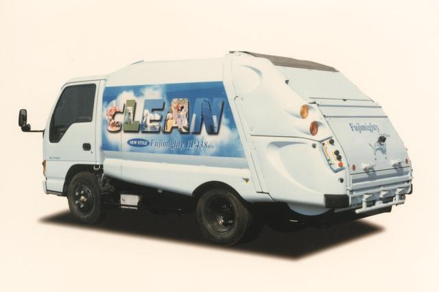 画像: 【フジマイティー】1998年に発売されたLP38シリーズは圧縮板強制排出式塵芥収集車。機能の高さだけでなく、1999年のグッドデザイン賞を受賞するなど、まさに機能美の極致と言える。