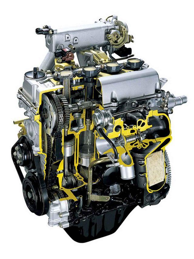 画像: 今はなき、軽自動車用直4エンジン。JB-DET型直4DOHCターボを搭載していた。