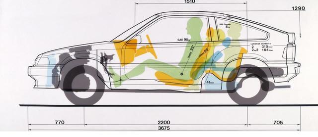 画像: リアシートはエマージェンシーシートとして存在、4名定員となる。リアシートは「1マイルシート」と呼ばれていた。