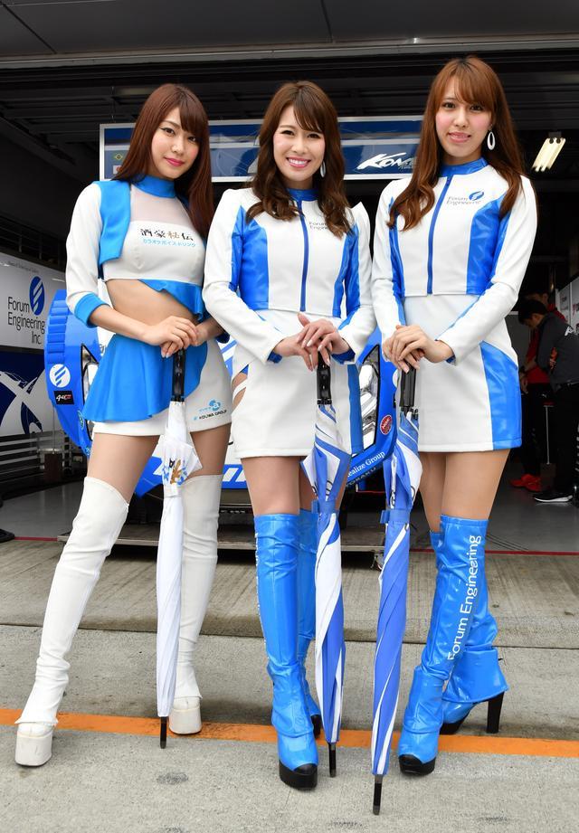 画像: 左 Vガール 愛聖りさサン フォーラムエンジニアリングギャル 吉美あやサン(中) 青山由美子さん(右)