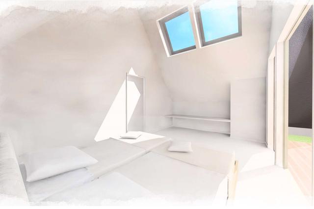 """画像: 千葉県一宮町にオープンした""""TENT""""の宿泊室内。"""