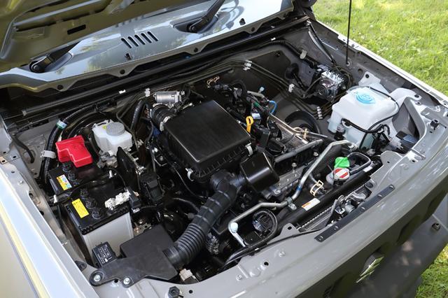 画像: 新開発の1.5L直4DOHCが採用されたジムニーシエラ。
