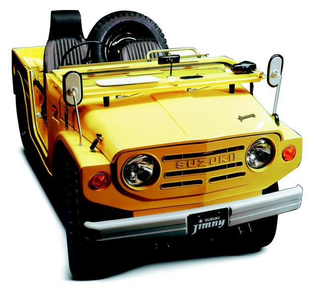 画像: 初代ジムニー。1970年4月に発売された小さな巨人。このサイズでは世界に類のないタフなクロカン4WD車として日本はもちろん、世界中で愛され活躍している。