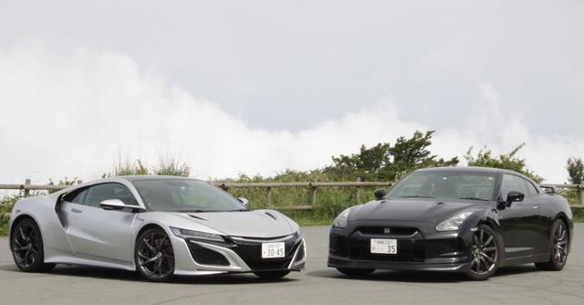 画像: 新型NSXとR35 GT-R。