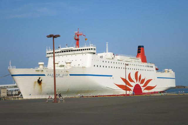 画像: 三井商船のさんふらわあが、大洗港から苫小牧港まで出ている。