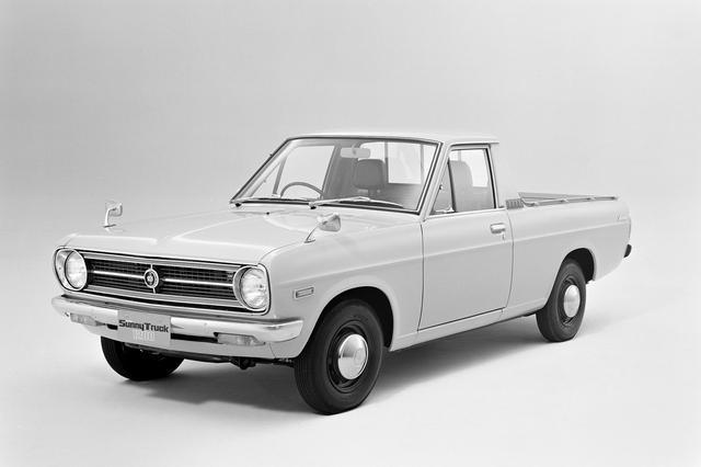 画像: 日産 ダットサン サニートラック。これは初期モデルのB120型。