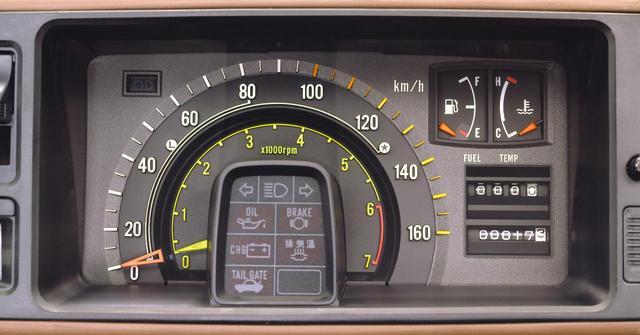 画像: メーターはこんな感じ。2重のリングの外側が速度計、内側がタコメーター。