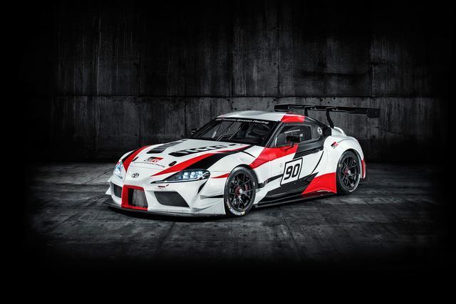画像: ジュネーブモーターショーで公開された「GR Supra Racing Concept」。 ました