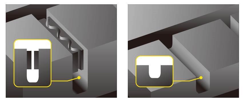 画像: 左:新品時。右:摩耗後