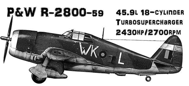 画像: 奇遇にも、ほぼ同期に登場したアメリカの雷電=P-47サンダーボルト。雷電同様、同機もアメリカ機の中でも特に極太だ。大排気量星型エンジンに加え、大型ターボスーパーチャージャーユニットを胴体に収めた結果このスタイルになった。