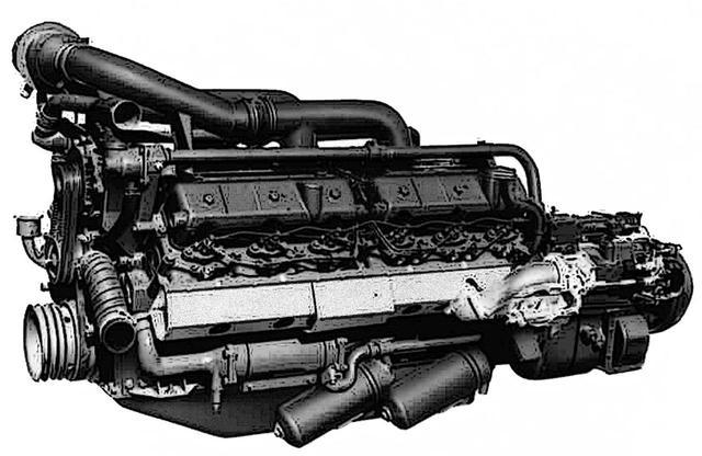 画像: 三菱は、既存の200馬力級V型6気筒エンジンをタンデムにした、V型12気筒19.9Lの12DC2を開発。公称350psとあるが、実際は400psぐらいはあったという説もある。