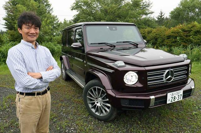 画像: 新型Gクラスの進化ぶりに感心する岡本レポーター。