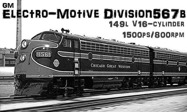 画像: 1950年代まで北米大陸横断鉄道の主役だった、EMD-Fシリーズ ディーゼル機関車。同時代のアメリカ車と同様、アメリカ黄金期のシンボル的デザインだ。