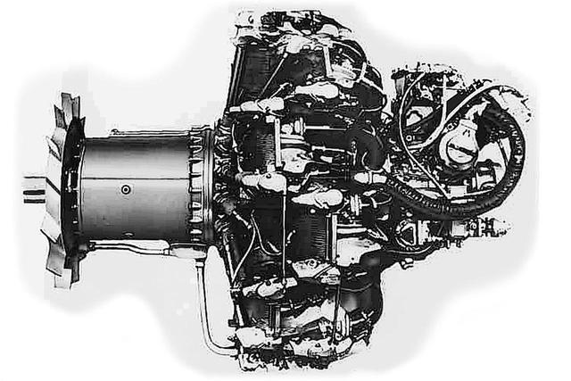 画像: 熟成度も高かった火星23型甲。雷電の機首は空力特性向上のため絞ってある。これに合わせ、プロペラシャフト(左端)が大きく延長され、延長部分に強制冷却ファンが追加された。