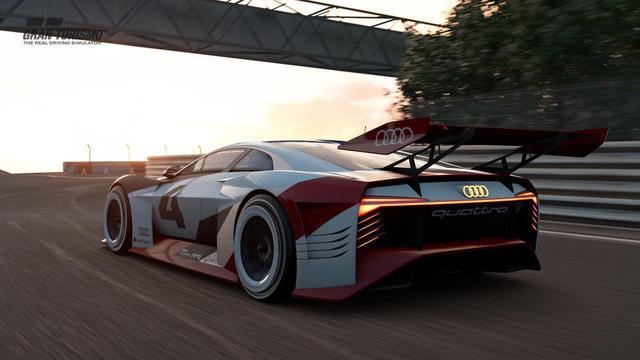 画像: ゲーム内のアウディ e-tronビジョングランツーリスモ。