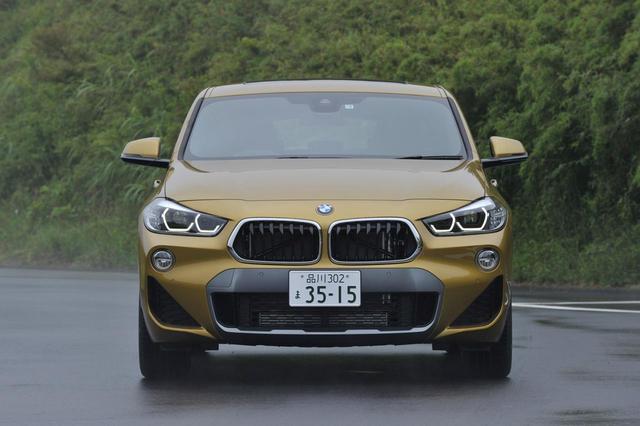 画像: BMW X2のフロントマスク。