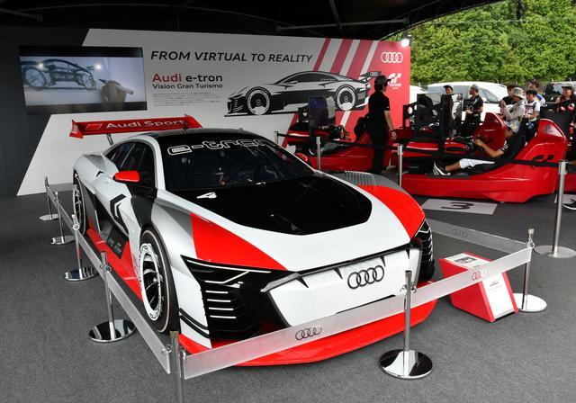 画像: レース期間中はイベント広場に展示され、多くの注目を集めていた