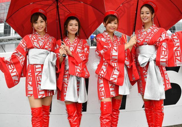 画像: 第5のsweeties、伊藤星菜さん(右から2人目)が富士ではスポット参戦
