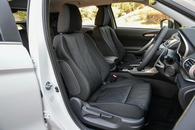 画像: 三菱 エクリプスクロス Gプラスパッケージのフロントシート。