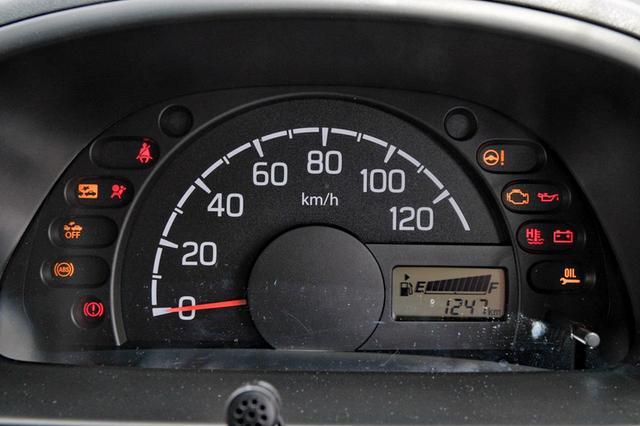画像: メーターはシンプル。速度計は120km/hスケールだった。