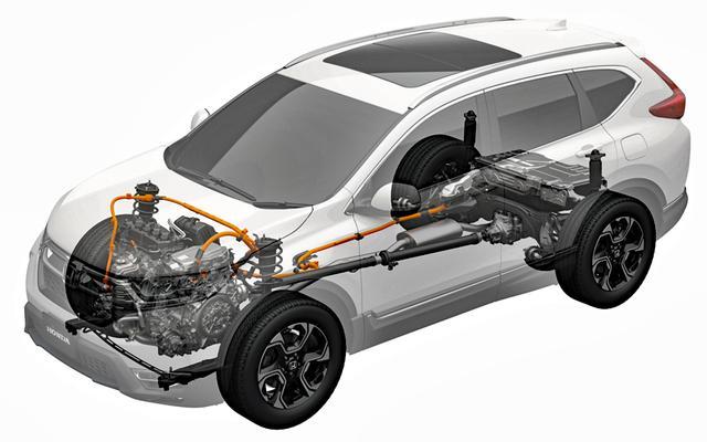 画像: 145ps/175Nmの2Lエンジンと184ps/315Nmのモーターによるスポーツハイブリッドi-MMDは、4WDとは初の組み合わせ。