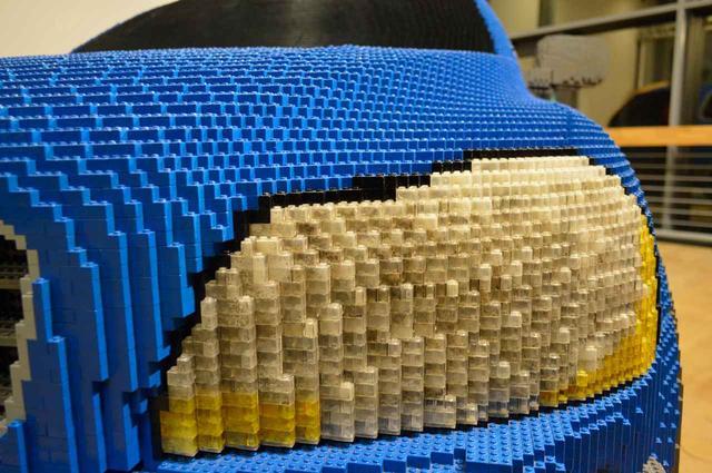 画像: ボルボミュージアムに展示されている、LEGO版XC90。